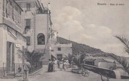 ALASSIO-SAVONA-VIALE AL MARE-BELLA ANOMAZIONE-CARTOLINA NON VIAGGIATA ANNO 19410-1920 - Savona