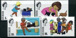 Grenada 1970 Birth Bicentenary Of William Wordsworth - Children & Pets Set MNH (SG 381-384) - Grenada (...-1974)