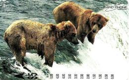 AUSTRALIA $5 BEAR IN ALASKA ANIMAL CARDPHONE 1000 ONLY !!!! READ DESCRIPTION !!! - Australie
