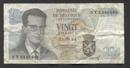 België Belgique Belgium 15 06 1964 -  20 Francs Atomium Baudouin. 3 Y  6346899 - [ 6] Schatzamt
