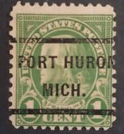USA – Scott #632 – Precancel Port Huron Michigan (1927) - United States