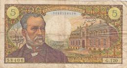 Billet 5  Francs  Pasteur 8-1-1970 - 1962-1997 ''Francs''