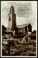 Ref 1286 - Real Photo Postcard - St Ann's Church & Graveyard - Shandon County Cork Ireland - Cork