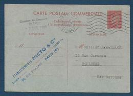Entier 80 C  Pétain   Correspondance Commerciale - Postwaardestukken