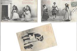 BERGERET Illustrateur  Lot De 3 Cartes Cpa-scan R/V Des 3 Cartes *PRIX FIXE - Bergeret