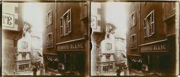THIERS LOT DE 5 PHOTOGRAPHIES STEREO DEVANTURE VIEILLE RUE PLACE DU PIROU RUE DU BOURG 63 AUVERGNE - Thiers