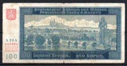 622-Bohème Et Moravie Billet De 100 Korun 1940 S20A - Other - Europe