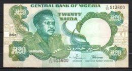 329-Nigeria Billet De 20 Naira 2003 S50 Décentré - Nigeria