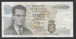 België Belgique Belgium 15 06 1964 -  20 Francs Atomium Baudouin. 3 Y  7322133 - [ 6] Treasury