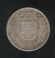 5 Francs Suisse / Switzerland 1932 - Switzerland