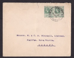British Guiana: Cover To Canada, 1916, 2 Stamps, George V, Sent By Saw Mill Timber Merchants (minor Damage) - Guyane Britannique (...-1966)