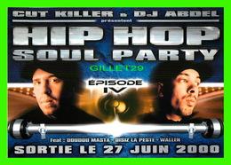 """AFFICHES DE FILM - """" HIP HOP SOUL PARTY """" - WITH CUT KILLER & DJ ABDEL IN 2000 - - Affiches Sur Carte"""