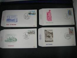 """BELG.1981 2010 2011 2012 & 2013 FDC's  :  """" Tourisme """" - 1981-90"""
