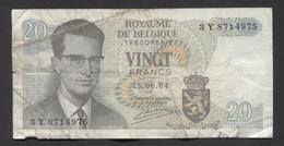België Belgique Belgium 15 06 1964 -  20 Francs Atomium Baudouin. 3 Y  8714975 - [ 6] Treasury