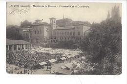 21969 - Lausanne Marché De La Riponne L'Université Et La Cathédrale - VD Vaud