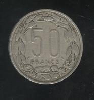 50 Francs Banque Centrale 1963 - Rep. Centrafricaine Congo Gabon Tchad - Coins