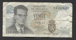 België Belgique Belgium 15 06 1964 -  20 Francs Atomium Baudouin. 3 Z 2950287 - [ 6] Treasury