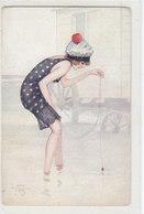 Beim Fischen - Sign. Jam          (190503) - Illustratori & Fotografie