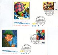 """BRD 2 Schmuck-FDC """"Deutscher Expressionismus (III)"""", Mi. 822/23 ESSt 29.10.1974 BONN 1 - FDC: Covers"""
