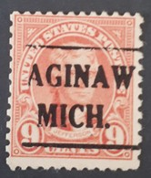 USA – Scott #641 – Precancel Saginaw Michigan (1927) - United States