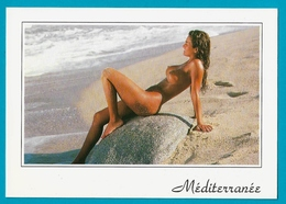 Méditerrannée Carte Photo Cliché BAES Le Soleil Et La Mer Femme Nue - Pin-Ups