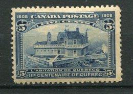 12713  CANADA  N° 88 * Tricentenaire De La Fondation De Québec : La Maison De Champlain à Québec  1908  B/TB - 1903-1908 Reign Of Edward VII