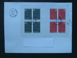 France 1972 - Carnet Croix Rouge Oblitéré  Sur Lettre - Postzegelboekjes