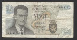 België Belgique Belgium 15 06 1964 -  20 Francs Atomium Baudouin. 3 Z 4568251 - [ 6] Treasury