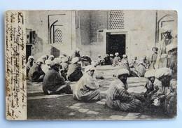 C.P.A. : Ouzbékistan: SAMARKAND, SAMARCANDE, La Lecture De Coran à Réguistan, Timbre En 1910 - Ouzbékistan