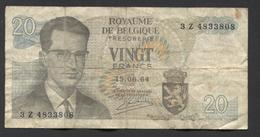 België Belgique Belgium 15 06 1964 -  20 Francs Atomium Baudouin. 3 Z 4833808 - [ 6] Schatzamt