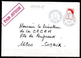 MP974-1 / Dept 974 (Réunion ) LE PORT MARINE 1992 > Cachet Type A9 - Marcofilie (Brieven)
