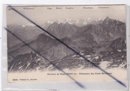 Suisse ; Rochers De Naye (2045 M) Panorama Des Alpes Bernoises - VD Vaud
