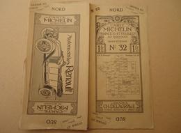 Carte Michelin - No 32 - Saint Etienne - Avec Publicités Automobiles Renault - Delaunay -1910- - Cartes Routières