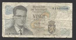 België Belgique Belgium 15 06 1964 -  20 Francs Atomium Baudouin. 3 Z  5053840 - 20 Francs