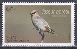 St. Pierre Miquelon 2014 Tiere Fauna Animals Vögel Birds Oiseaux Aves Uccelli Seidenschwanz Waxwing, Mi. 1190 ** - St.Pierre & Miquelon