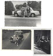 Joli Lot De 3 Photos - VOITURES ANCIENNES - Automobiles