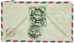 Ref 1287 - 1957 Burma Airmail Cover - 75p Rate Monywa To Bombay India - Myanmar (Burma 1948-...)