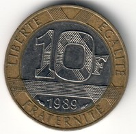 France 10 Francs 1989 - 13 Stries - Frankrijk