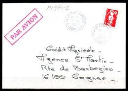 MP974-2 / Dept 974 (Réunion ) LE PORT MARINE 1992 > Cachet Type A9 - Marcophilie (Lettres)