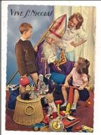 Carte Postale Glacée   -   Vive St-NICOLAS  -  Enfants, Jouets Divers Dont Poupée - Saint-Nicolas