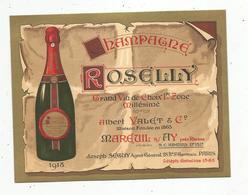 Carte De Visite , Champagne Roselly , Albert Valet & Cie ,Mareuil S/ Ay Près Rheims, J. Seguy ,Paris - Cartes De Visite