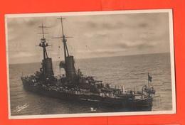Nave Da Battaglia Andrea Doria Cpa Spedita Da La Spezia 1929 Regia Marina Navir Schip - Guerra