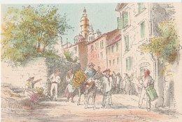 Barré & Dayez. Illustrateurs: Signé: P. Charlemagne. MENTON (06). La Fête Du Citron (Tambourinaire, Ane). N°1471 N - Illustrators & Photographers