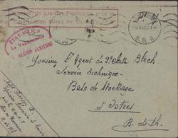 Guerre 39 45 Cachet Rouge Mission Liaison Française Près Commission Mixte Contrôle N°5 + Etat Major 1 Région Aérienne - Storia Postale