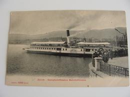 ZÜRICH Dampfschiffstation Bahnhofstrasse Dampfschiff Helvetia   Suisse Svizzera   SHIP  NON VIAGGIATA FORMATO PICCOLO - Chiatte, Barconi