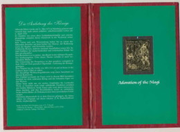 393 Staffa Scotland OR Gold Stamps Adoration Of Magi 1985 (noel Christmas) Tirage Rare - Natale