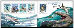 Guinea Bissau 2014 Fauna Prehistoric Aquatic Animals Klb + S/s MNH - Postzegels