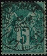-Sage N°75 Type Ll. O .PARIS  31 Déc 1896. JOURNAUX.( Bur 77 ) - 1876-1898 Sage (Type II)