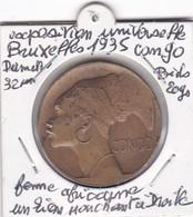 EXPOSITION  UNIVERSELLE ET INTERNATIONALE DE BRUXELLES  1935  //  CONGO - Other