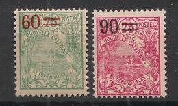 Nouvelle Calédonie - 1924-27 - N°Yv. 130 Et 133 - 60c Sur 75c Vert Et 90c Sur 75c Rose - Neuf Luxe ** / MNH / Postfrisch - Nueva Caledonia